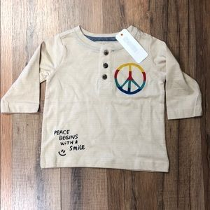 Gymboree Baby Boy Peace Henley Shirt NWT